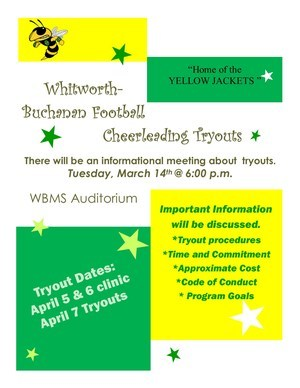 Picture of Cheer Tryout Flyer