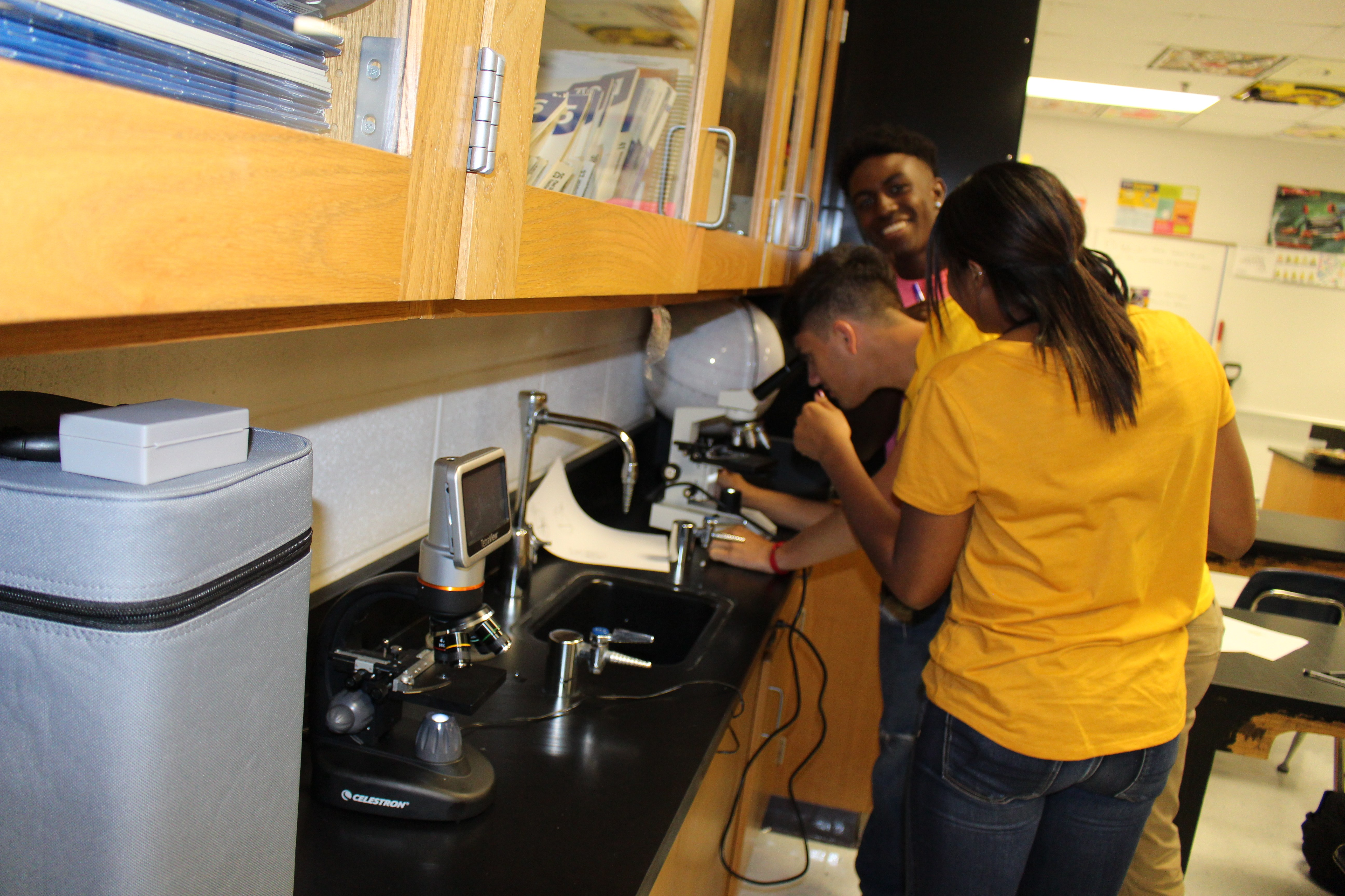 Forensic Science Students Study Different Types of Hair