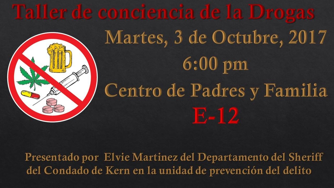 Drug Awareness Announcement in Spanish