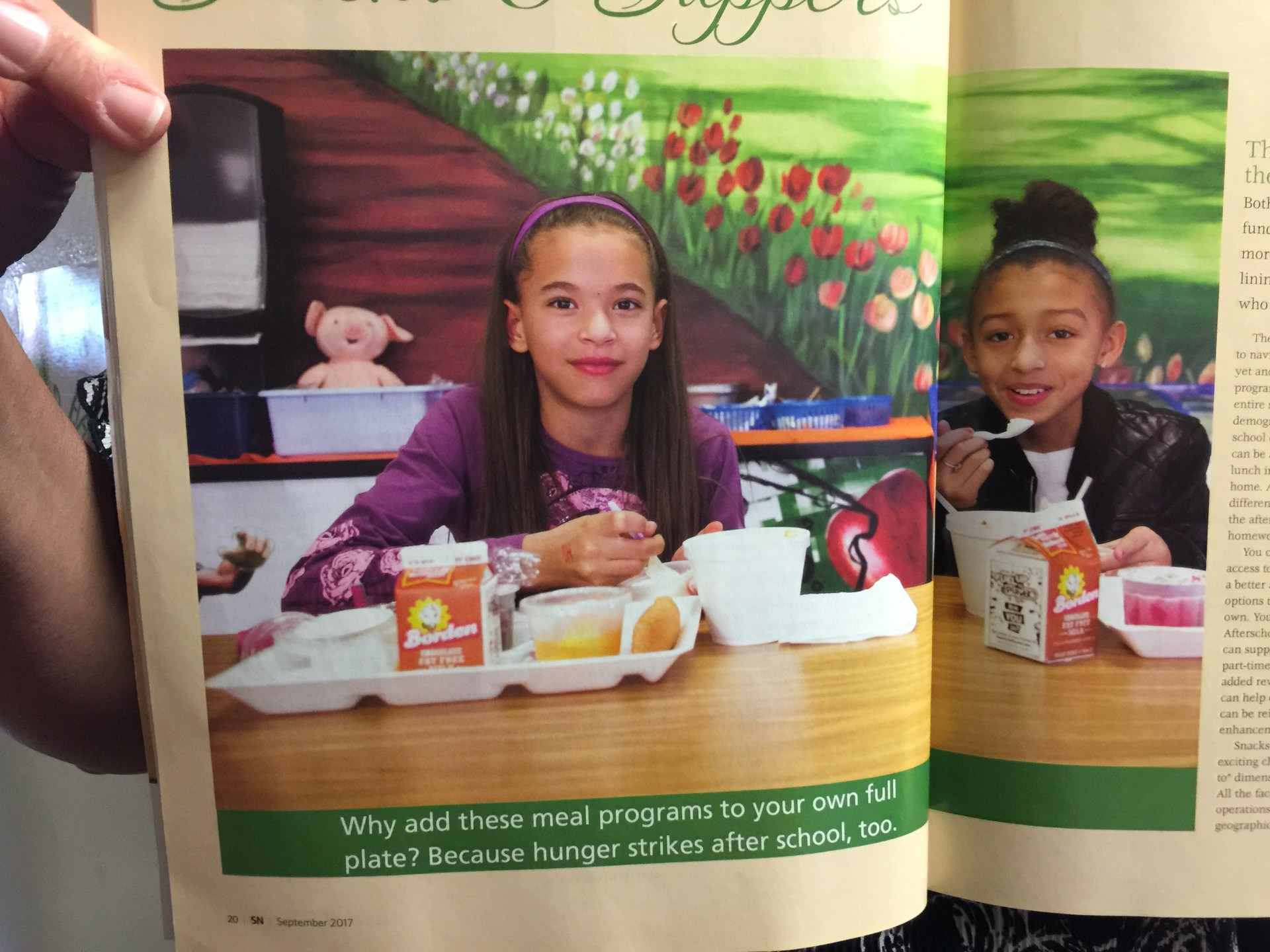 Our students in No Kid Hungry article.