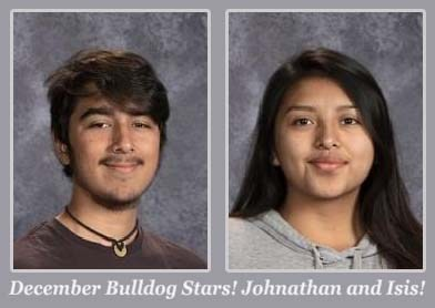 Johnathan & Isis December Students of the Month