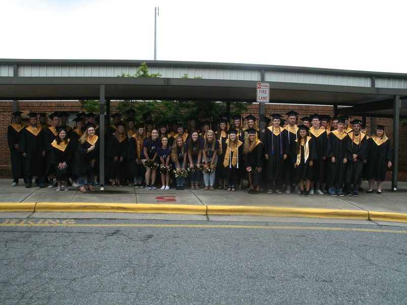 Group of East Davidson graduates.