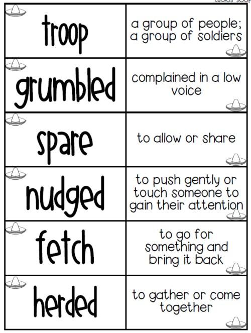 vocab words nov 13