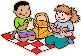 Children at a picnic image