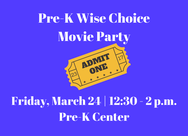 Pre-K Wise Choice Movie Party Thumbnail Image