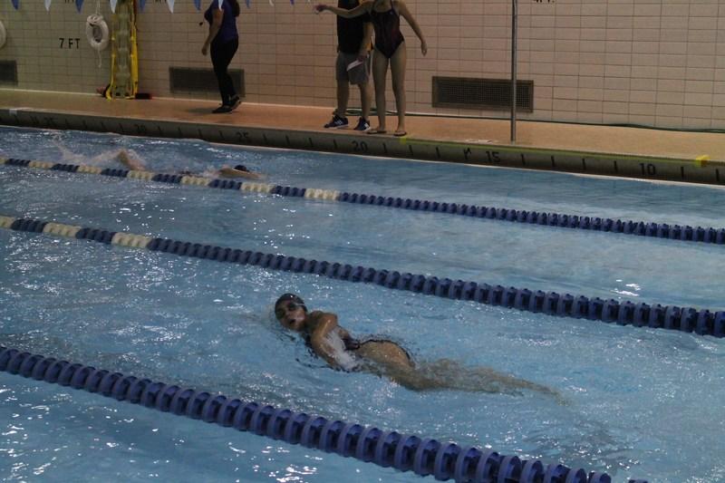 girls swim practice