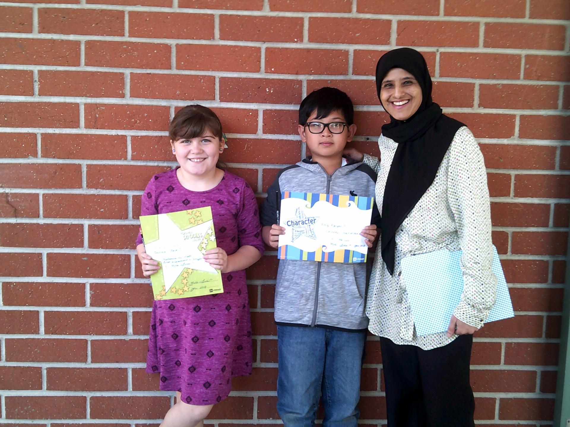 Mrs. Lies' Fourth Grade Honorees