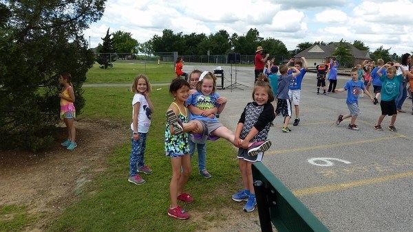 Students on playground