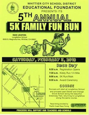 5K Family Fun run Flyer