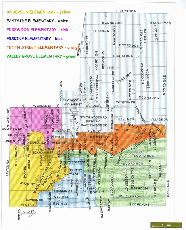 ACS boundary map