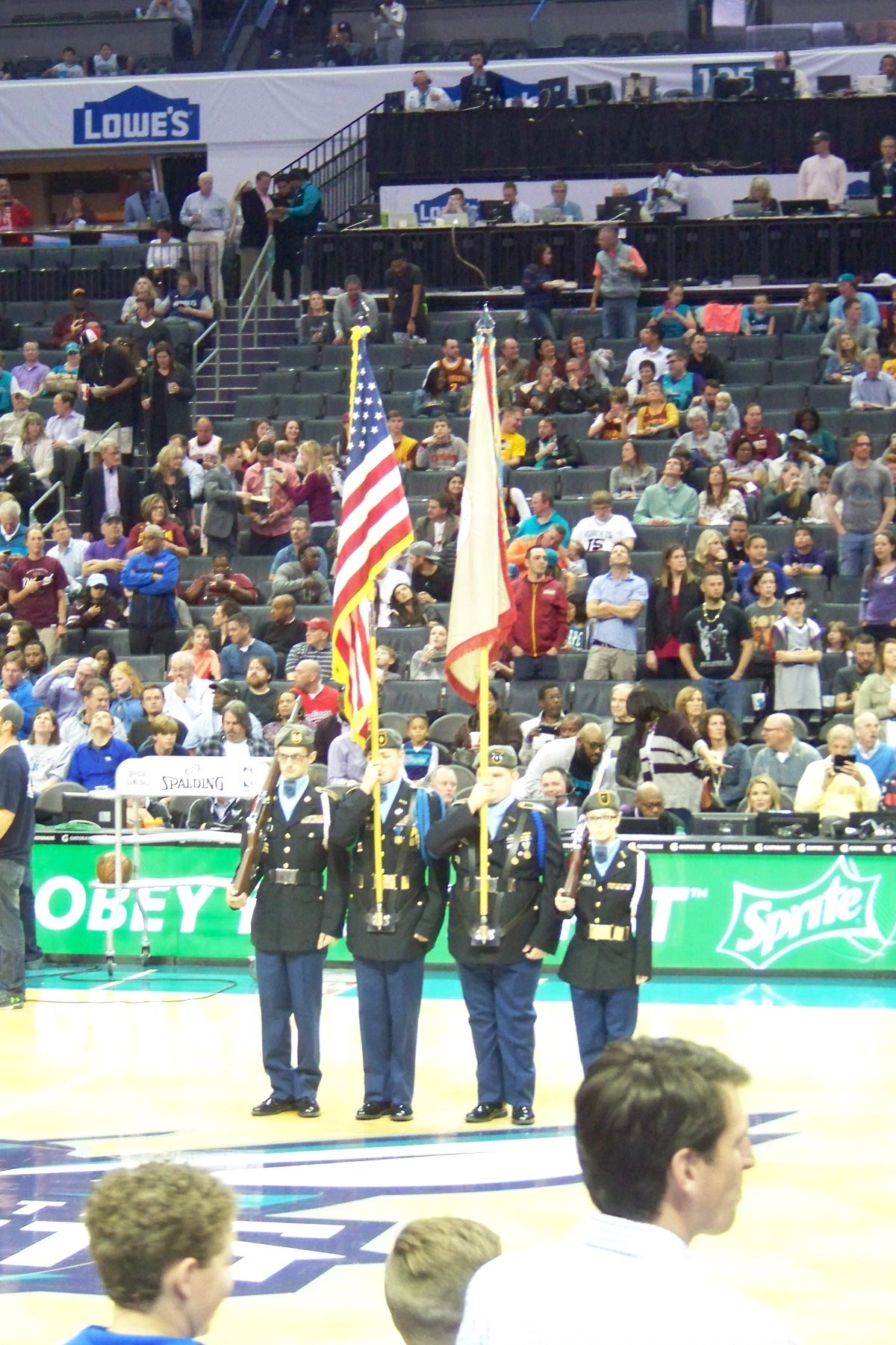 Charlotte Hornets Color Guard