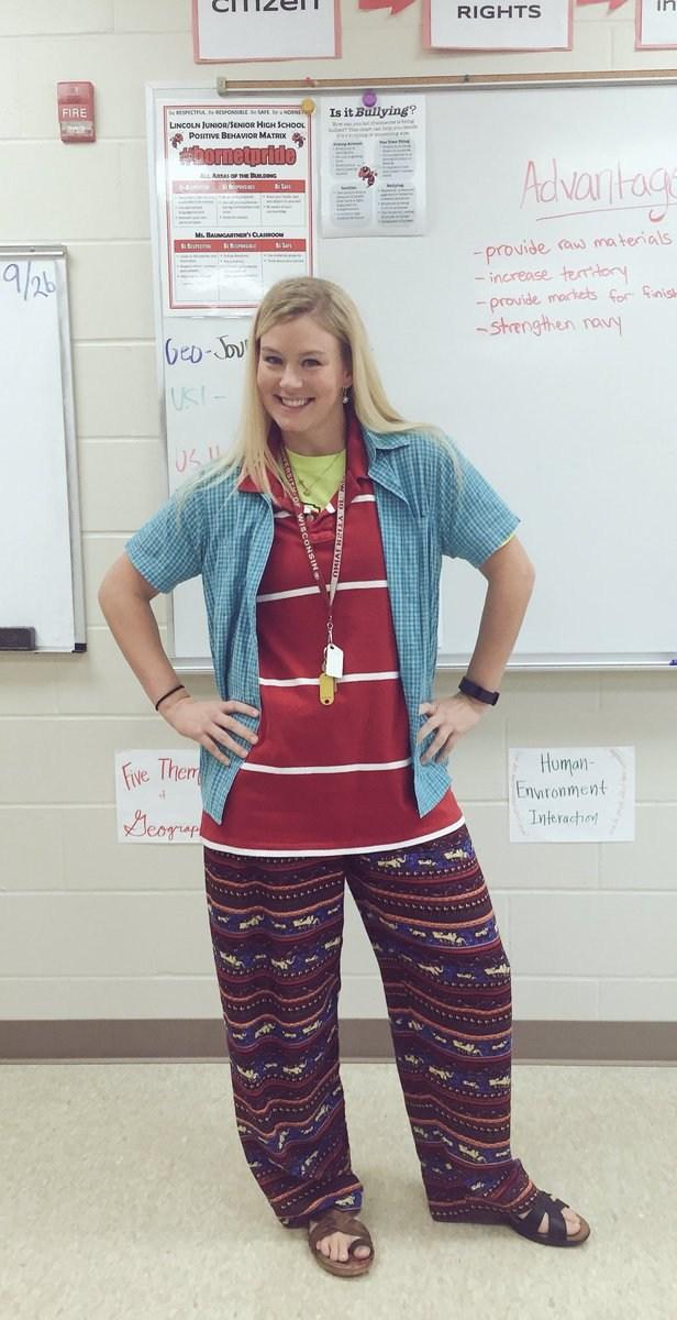Mrs. Swenson on Mismatch Day!