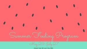 Summer Feeding Program flyer