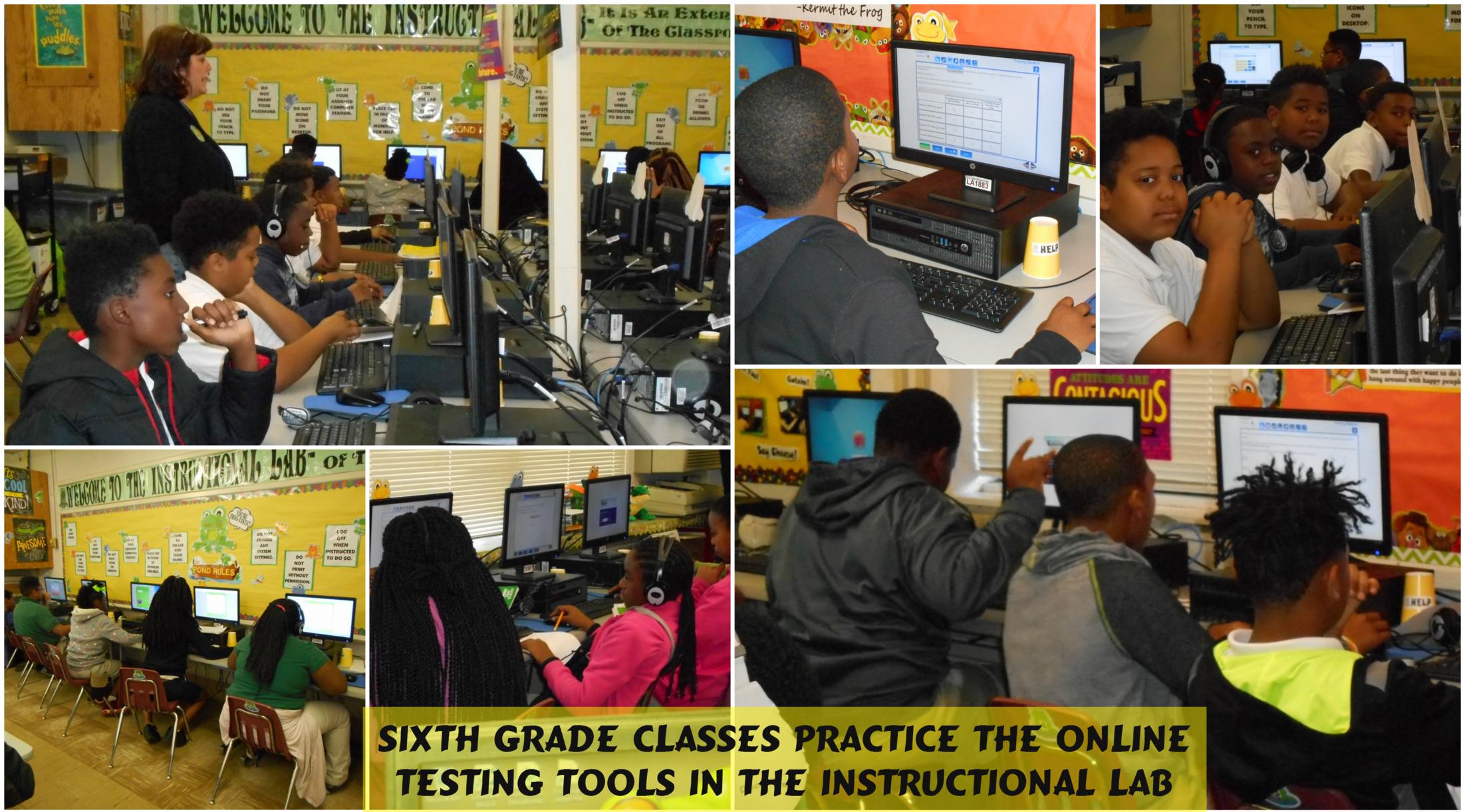 Sixth Grade practicing online tools