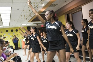 Badger Springs dance team at Back-to-School Night