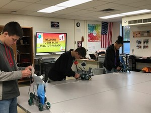 8th grade STEM Class Pull Toy project