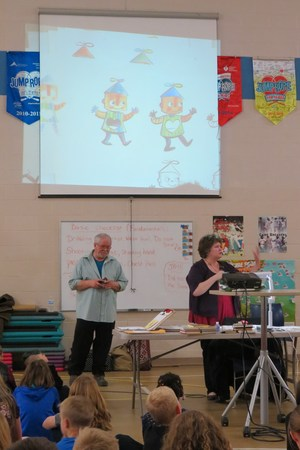 Author Ruth McNally Barshaw shows her drawings of a new character.