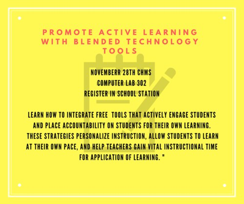 Blended Learning PD Announcement