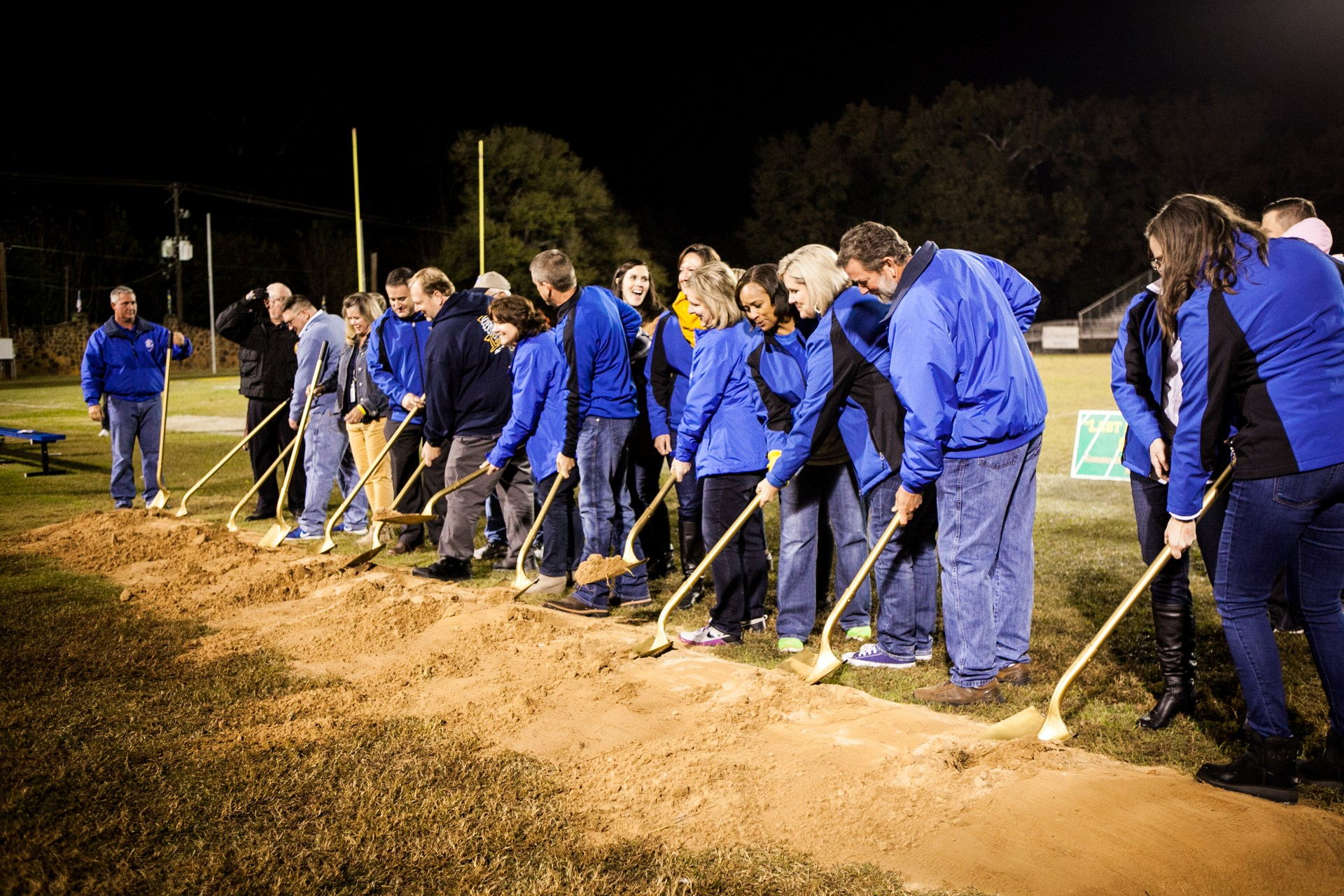 Leadership Team breaking ground