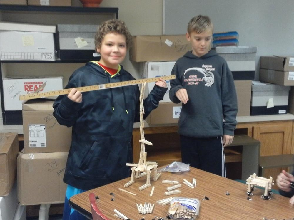HOPE Group Students Working Through Engineering Challenge 3