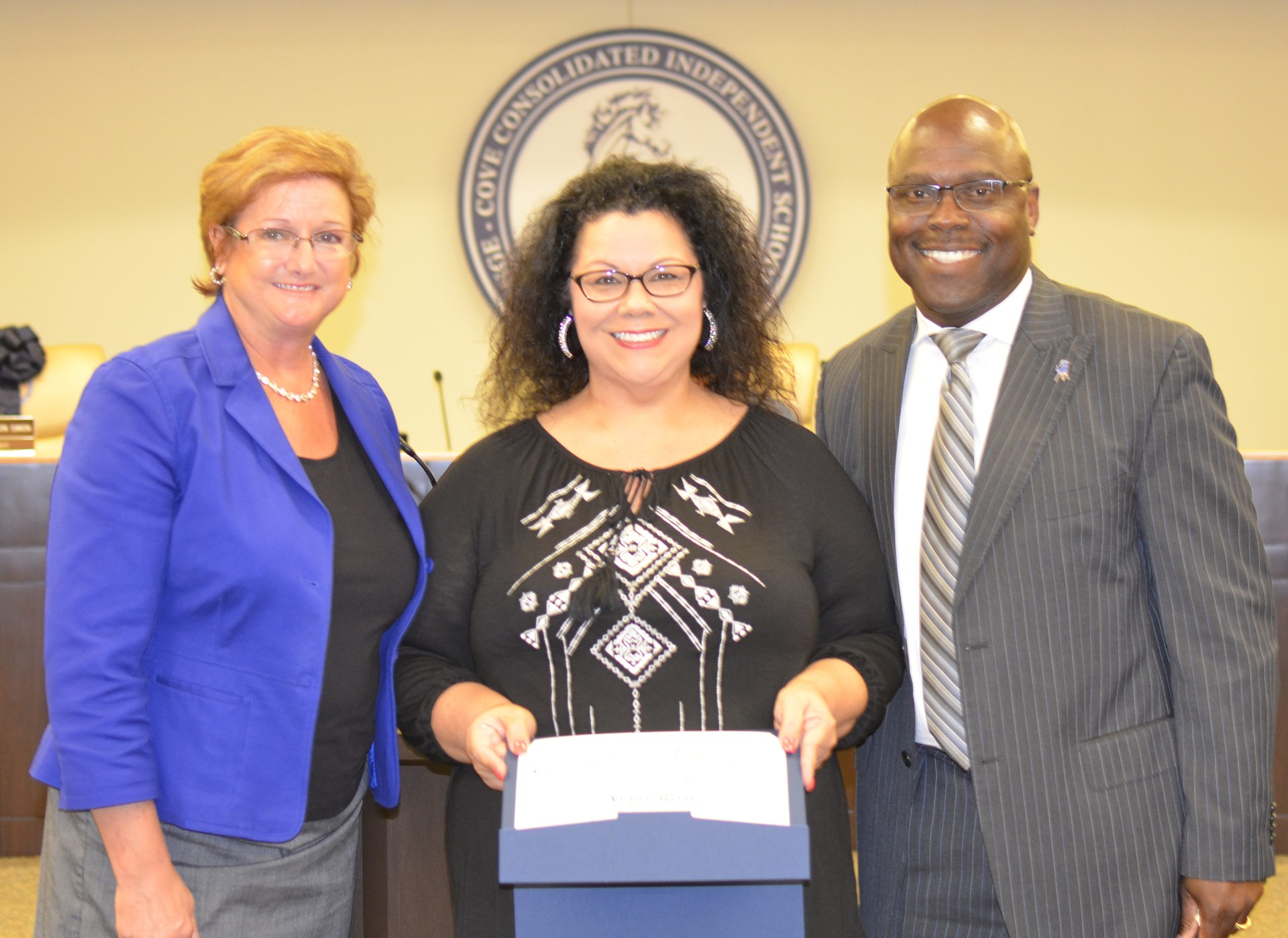 April Rose is recognized as Employee of the Month.
