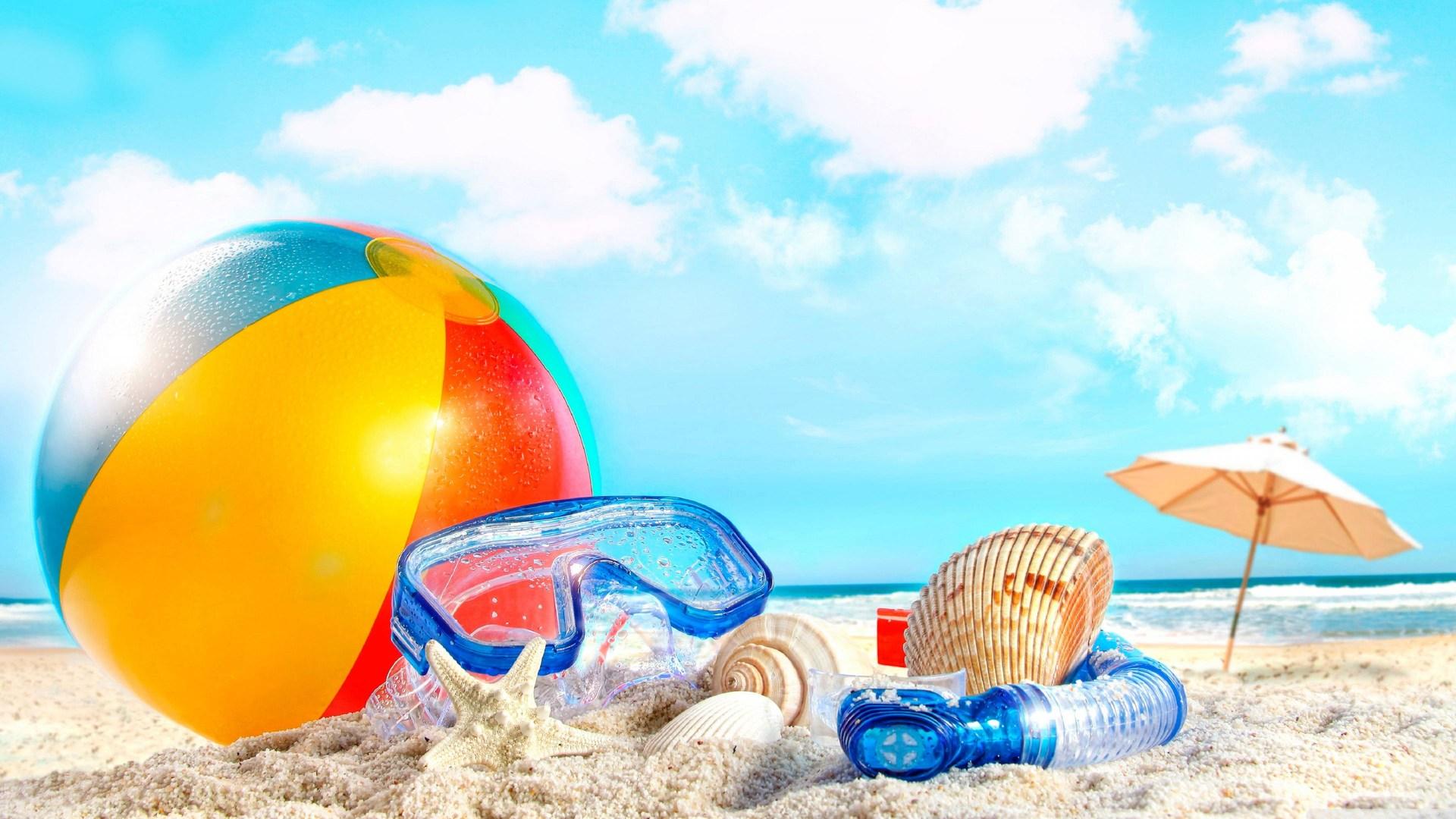 Beach ball at the beach