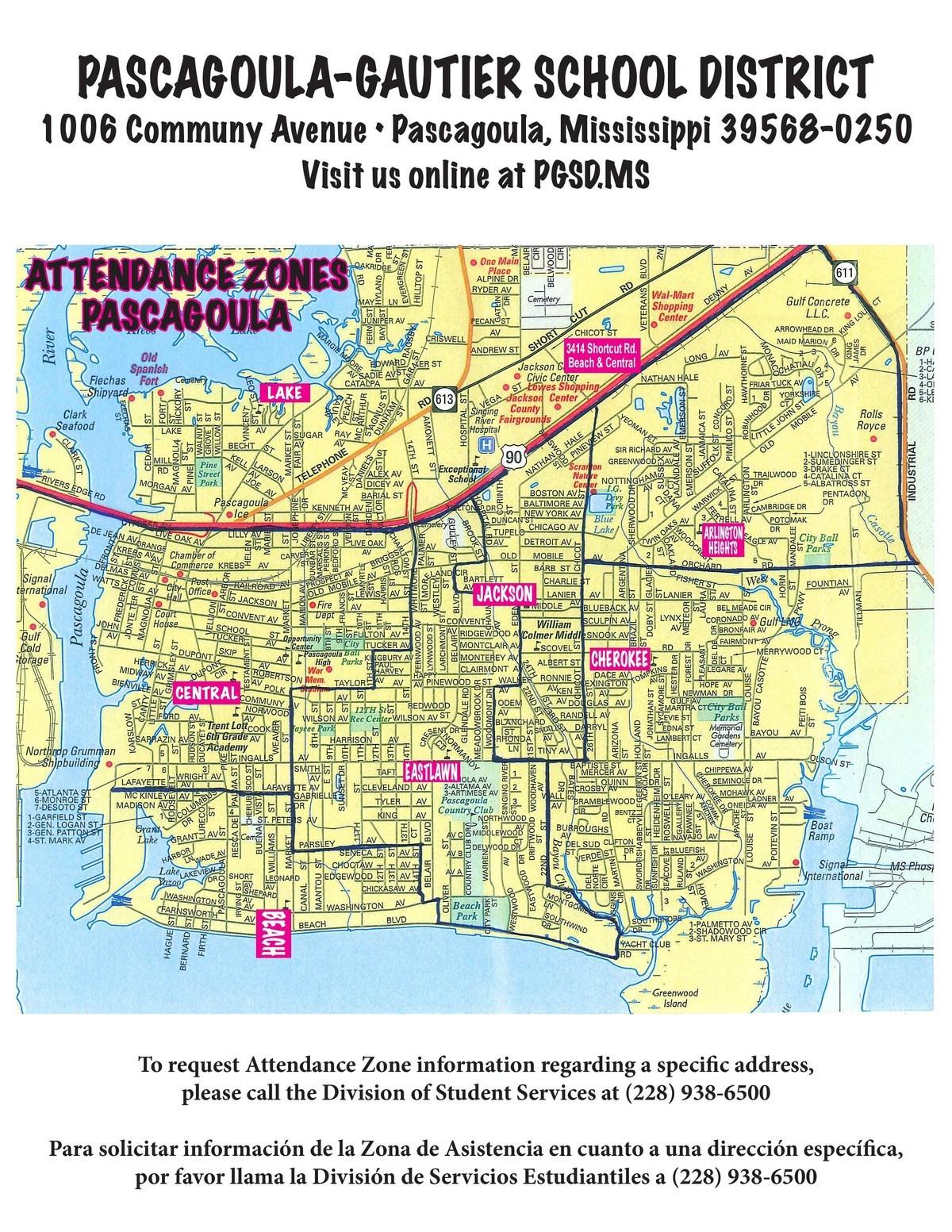 Pascagoula School Zones