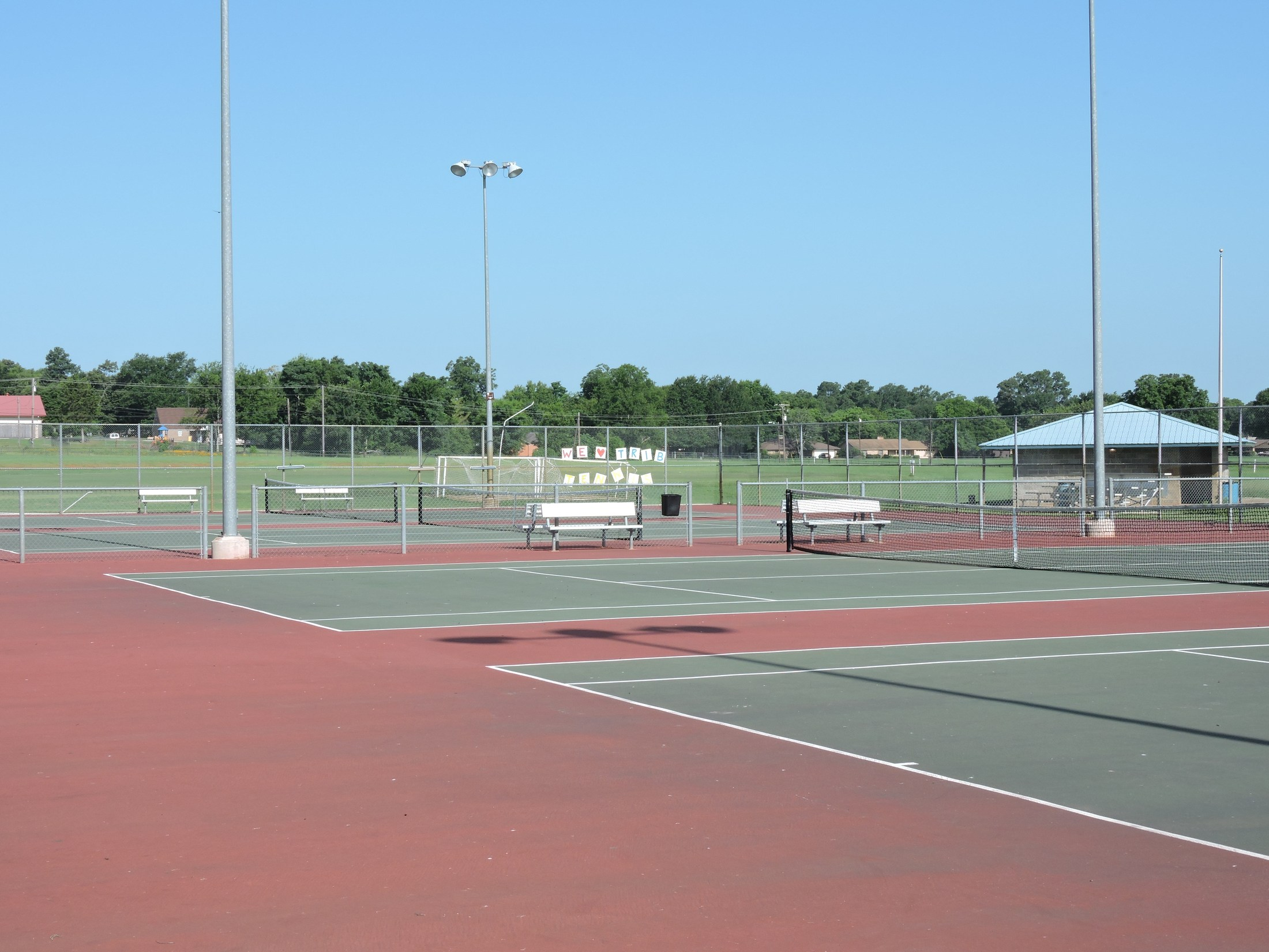 view of the tennis courts at JHS