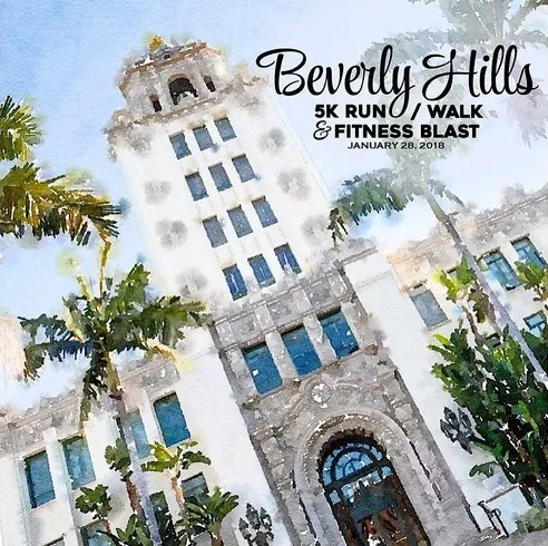 Beverly Hills 5K Walk/Run & Fitness Blast Flyer