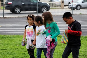 After school students hunt for more eggs