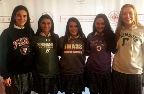 Five SHA Student-Athletes Recognized for College Commitments Featured Photo