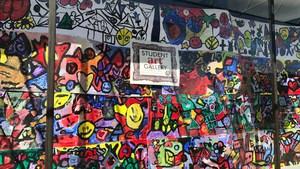 Stonewall Jackson students' artwork displayed downtown