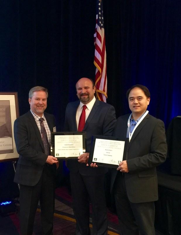 Brian Johnson accepts AIACC award