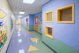 Hallway of the early childhood center