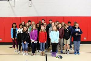 All Middle School AAA Award winners.