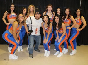 Kevin with the team cheerleaders