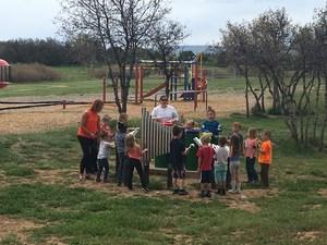 Students outside at Florida Mesa Elementary.