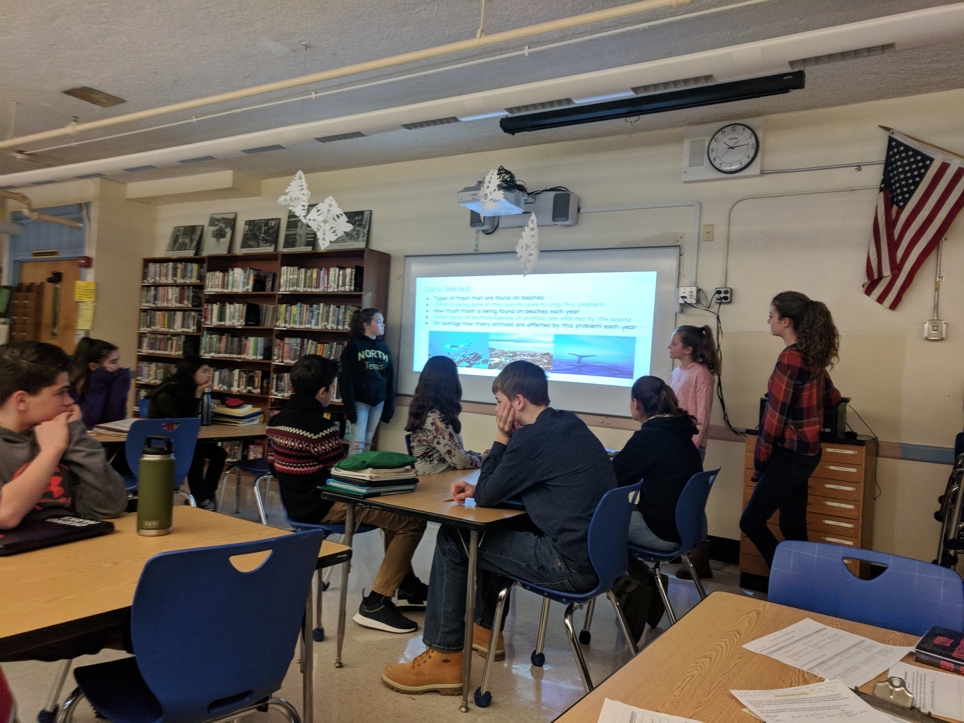 Students presenting Geo Inquiry Projects