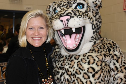 Mrs. Grant with the Bobcat