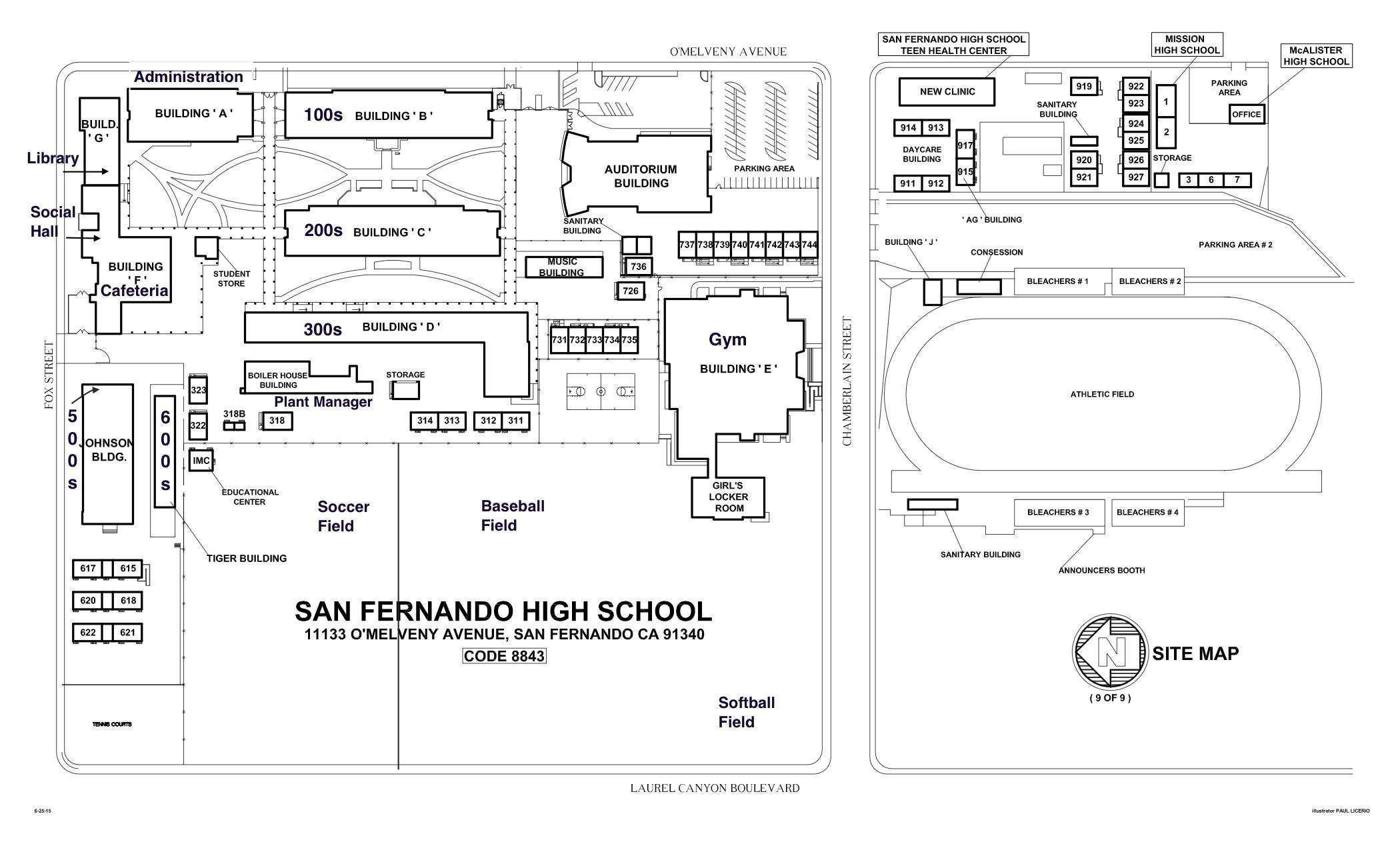 School Map About Us San Fernando Senior High School