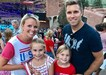 TKMS assistant principal Lyndsey Fischer with her husband second grade teacher Nathan Fischer and their two daughters.