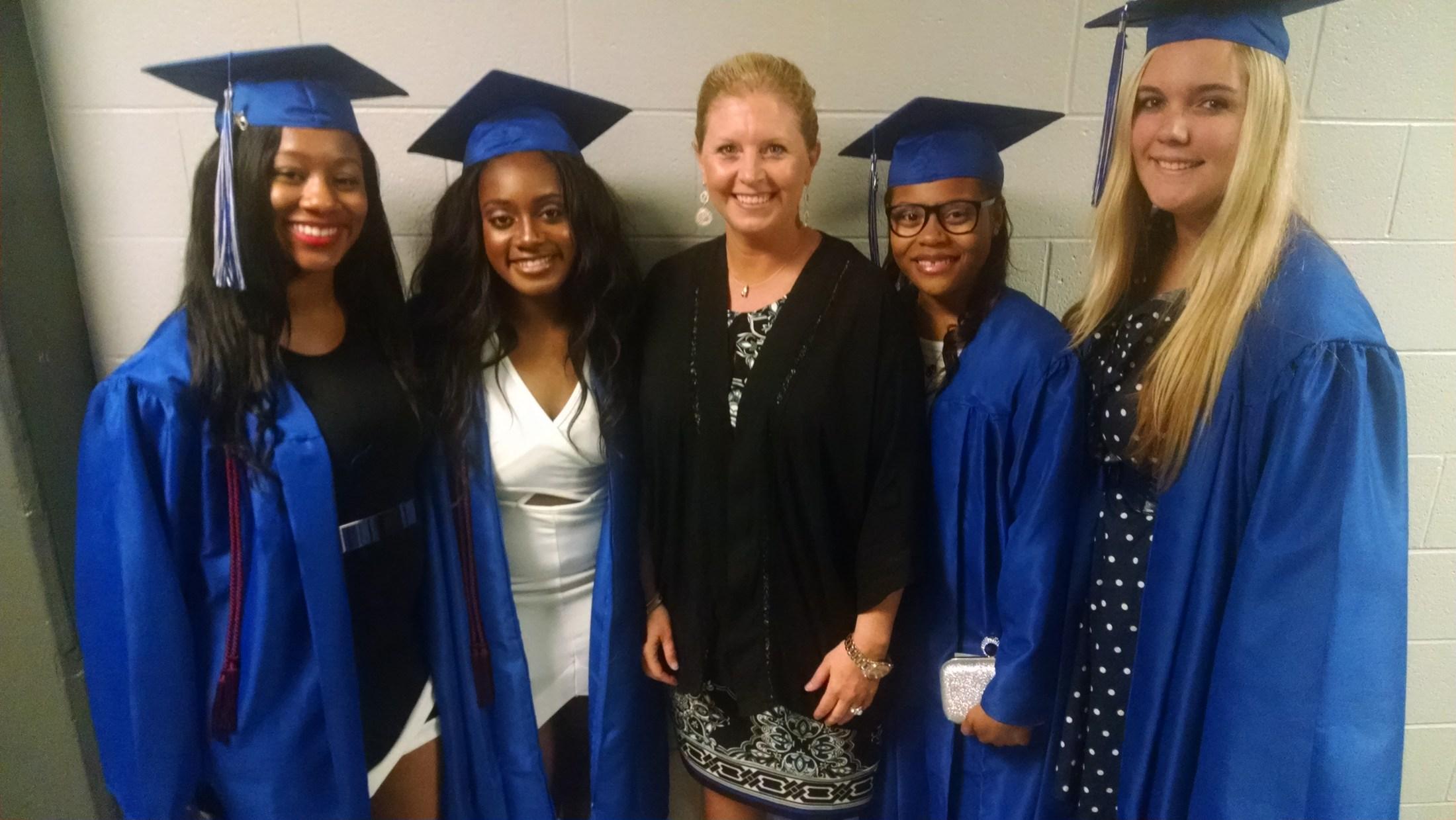 2015 Graduates With Coach Francis