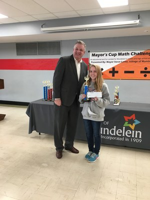 Tori Collins with Mayor Lentz