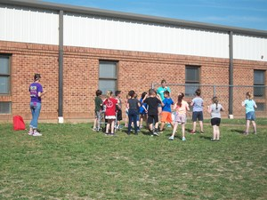 Children playing at Field Day.