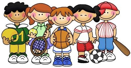 clip art of athletic students