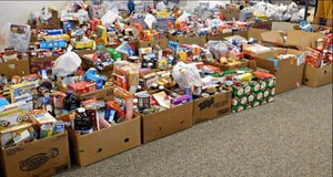 Picture of food collected during drive