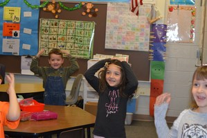 McFall Elementary students sing and act out