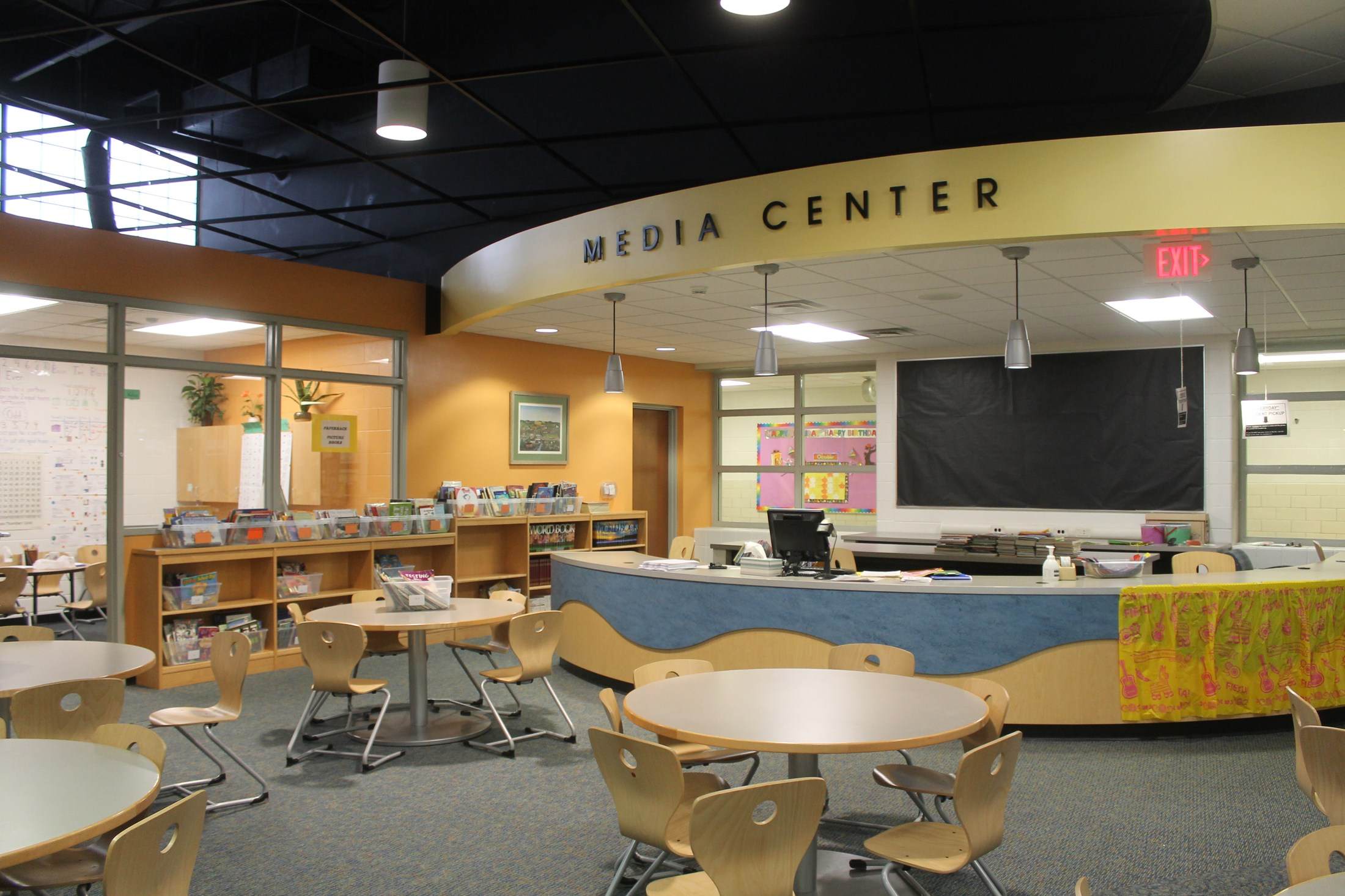 TK Elementary Schools feature media/library centers.
