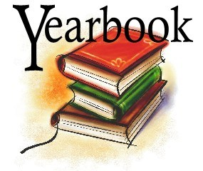 image of a stack of yearbooks