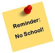 No School November 20th - 24th Thumbnail Image